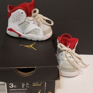 Nike Air Jordan 6 Retro BT White/Gym Red/Platinum